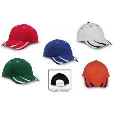 Ενισχυμένο βαμβακερό καπέλο εξάφυλλο με velcro